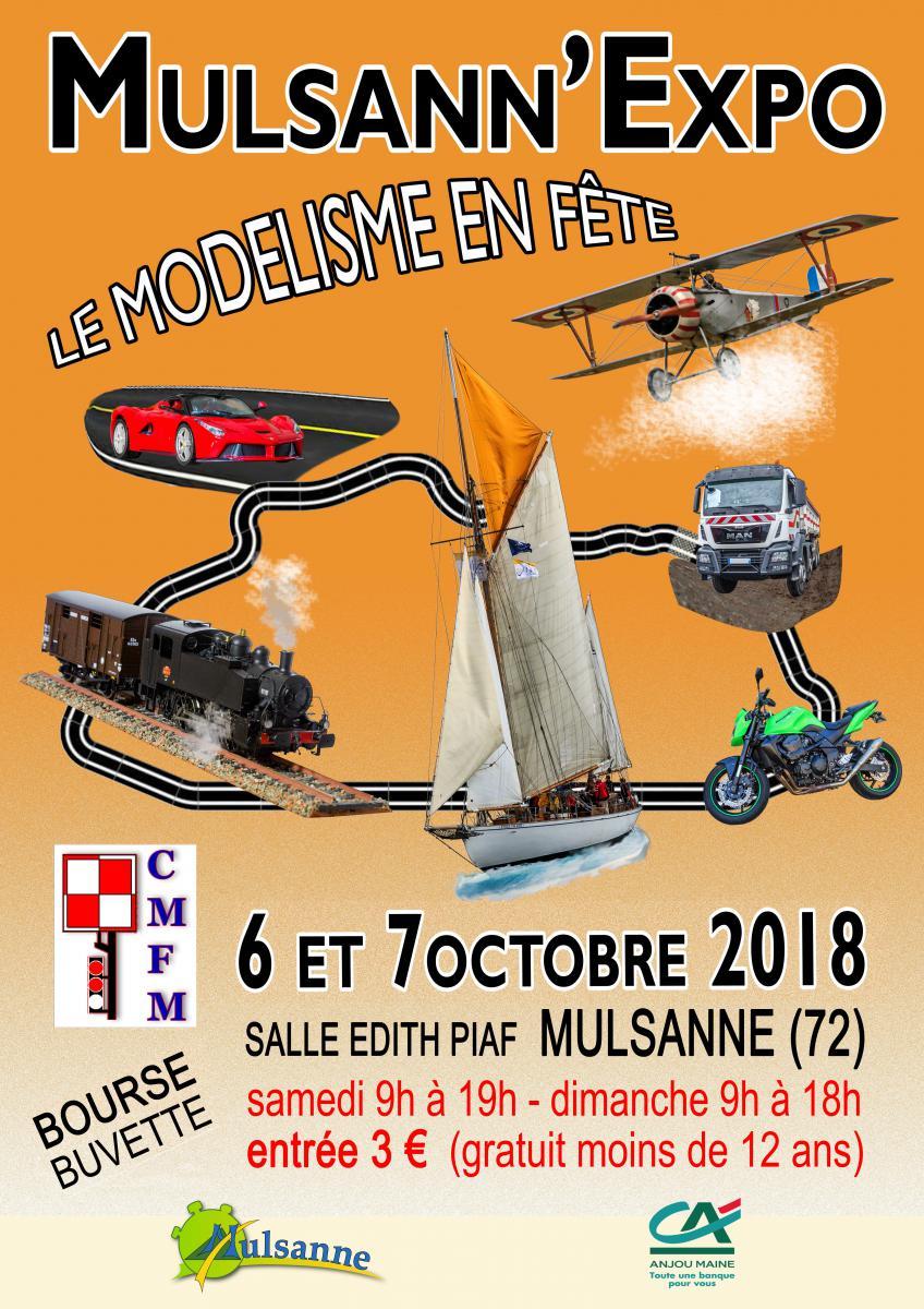 Affiche de l'Exposition de Mulsanne - Octobre 2018<br>